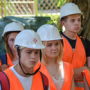 Master class for repairing facades of buildings was held for BSTU students in Belgorod