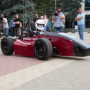 Cars which were designed and manufactured by students, presented at the university